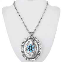 Navajo Stamped Sterling Silver Pendant 32555
