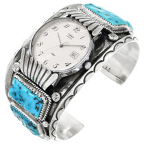 Old Pawn Turquoise Watch 32557