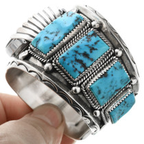 Natural Sleeping Beauty Turquoise Watch Cuff 32557