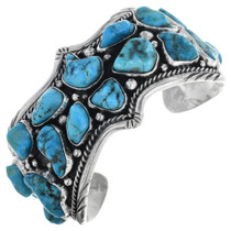 Vintage Turquoise Nugget Cuff Bracelet 32558