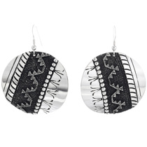 Sterling Silver Navajo Earrings 32563