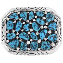 Vintage Navajo Turquoise Belt Buckle 32567