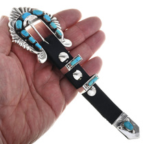 Zuni Turquoise Inlay Ranger Buckle 32571