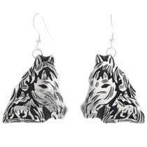 Navajo Silver Horse Dangle Earrings 32580
