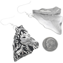 Navajo Richard Singer Silver Overlay Earrings 32580