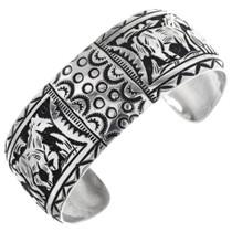 Navajo Silver Horse Bracelet 32581
