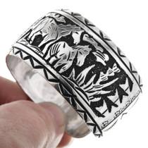 Native American Silver Overlay Bracelet 32581
