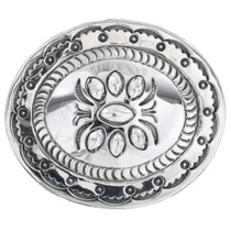 Navajo Sterling Silver Western Belt Buckle 32584