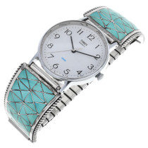 Old Pawn Zuni Turquoise Watch 32585