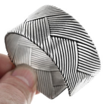 Braided Sterling Silver Cuff Bracelet 32590