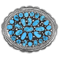 Sleeping Beauty Turquoise Belt Buckle 32591