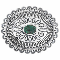 Old Pawn Turquoise Silver Belt Buckle 32593