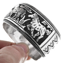 Native American Silver Horse Bracelet 32594