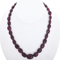 Navajo Ruby Red Sapphire Necklace 20702
