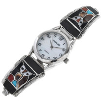 Vintage Zuni Inlaid Owl Watch 32605