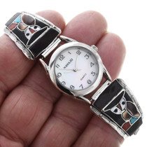 Sterling Silver Inlay Zuni Watch 32605