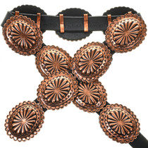 Navajo Copper Concho Belt