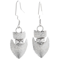 Sterling Silver Arrowhead Earrings 32608