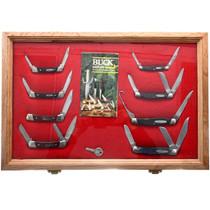 Vintage Framed Buck Knife Collection 32616