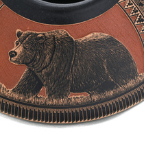Bear Design Navajo Pottery 32621