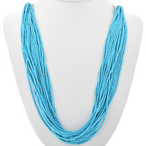 Ladies Navajo Turquoise Heishi Necklace 32629