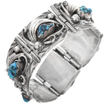 Vintage Navajo Turquoise Link Bracelet 32638