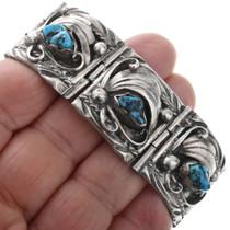 Navajo Sterling Silver Turquoise Bracelet 32638