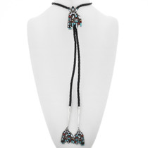 Turquoise Inlay Bolo Tie 32642