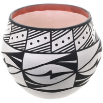 Acoma Black White Storage Pottery 32646