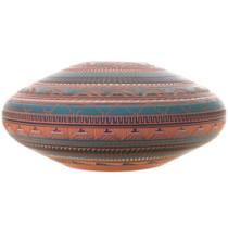 Navajo Pottery Ombré Colors Low Bowl 32647