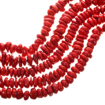 Bright Red Branch Coral Beads 31949
