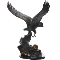 Large Vintage Eagle Bronze Sculpture 32698