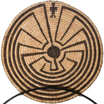 Pima Tribe Man in the Maze Basket Tray 32686