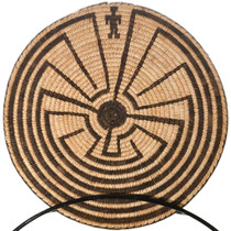 Native American Man in the Maze Pima Basket 32686