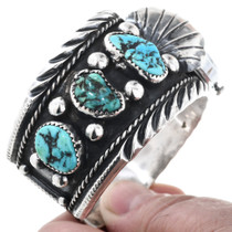 Vintage Natural Sleeping Beauty Turquoise Cuff 32810