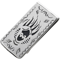 Navajo Bear Claw Silver Money Clip 32814