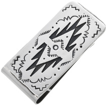Navajo Geometric Pattern Silver Money Clip 32815