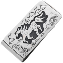 Navajo Horse Money Clip 32816