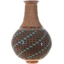 Hand Etched Mata Ortiz Polychrome Vase 32703