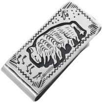 Navajo Buffalo Money Clip 32817
