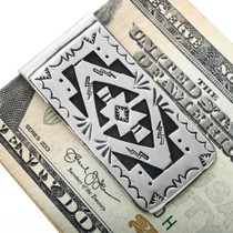 Silver Overlay Native American Money Clip 32821