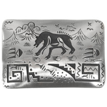 Silver Walking Bear Belt Buckle 32822