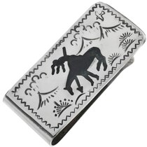 End Of Trail Silver Money Clip 32824