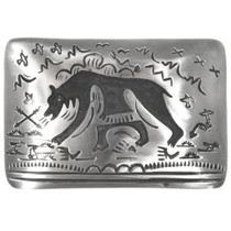 Silver Bear Belt Buckle 32836