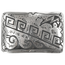 Sterling Silver Heartline Bear Belt Buckle 32828
