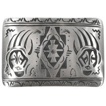 Navajo Silver Bear Paw Belt Buckle 32829