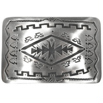 Navajo Overlaid Silver Belt Buckle 32831