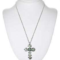 Navajo Cross Inlaid Opal Pendant 32833