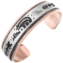 Navajo Copper Silver Bear Bracelet 32838