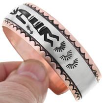 Silver Copper Navajo Overlay Bracelet 32840